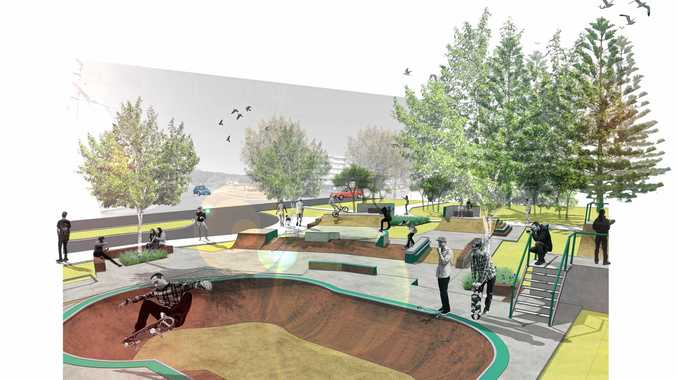 One of the concept designs for the new-look Alex Skate Park.