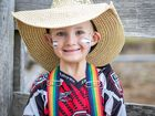 Karter Searle has fun at the Glenden Rodeo.