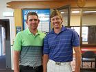 SUCCESS: Club captain Tim Sutton and WCU Canning Downs winner Jay Roberts.