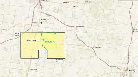 Moreton Resources' mine would be developed, if approved, in the MDL385 area of this map.