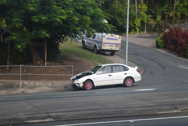 CRASH: The White Car Involved In Todayu0027s Crash In Airlie Beach Had A 19