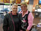 Warwick Credit Union Canning Downs ladies gross winner Sam Hinze and nett winner Judy Lester at the Warwick Golf Club.