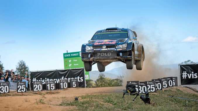 SMALL SCREEN, BIG ACTION: This year's high octane action from the Kennards Hire Rally Australia in November will be seen on free-to-air television.