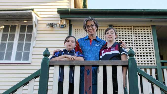 The Clarkson family, including Brooke, Trudy, Grace and Stephen (not pictured), will be forced to sell their beloved home to make way for the Mackay Ring Road.