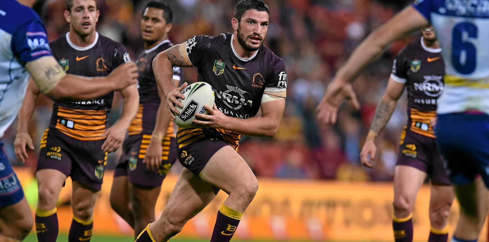 Matt Gillett in action for the Broncos.