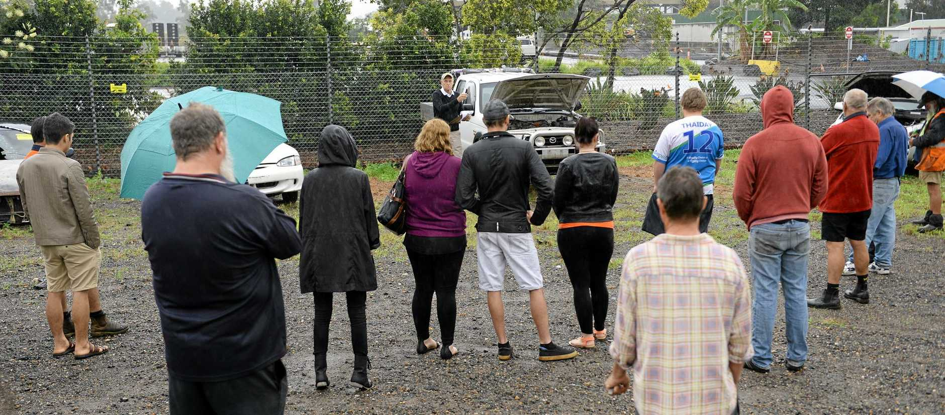 A decent crowd turned out for the Ipswich City Council public auction of abandoned vehicles.