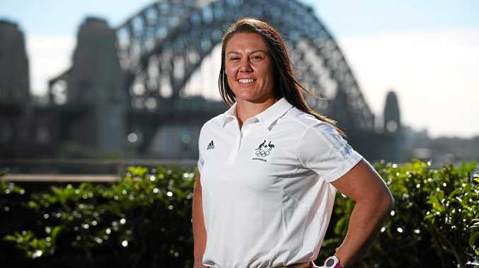 MAKING HISTORY: Australian Women's Sevens Rugby team captain Sharni Wiliams is back in Mackay with her parents after winning gold at the 2016 Rio Olympics.