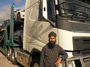 Truckin on the border: Teginder Grewel