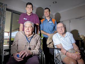 Jason brings joy to aged care residents