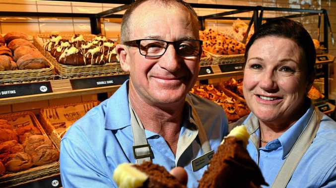 RISING TO THE CHALLENGE: Tony and Michelle Burns are the new francishee's of Muffin Break at Currimundi Markets.