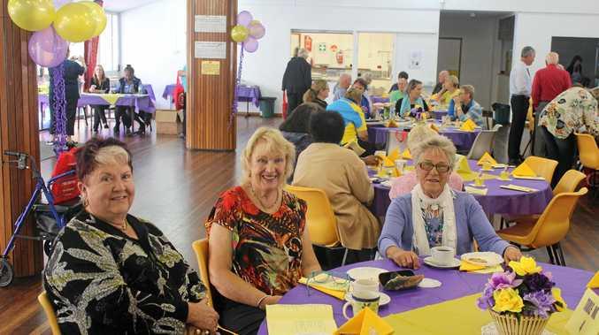 Margaret McFazden, Gina Zimple and Dawn Hockey celebrate Seniors' Week in Sarina.