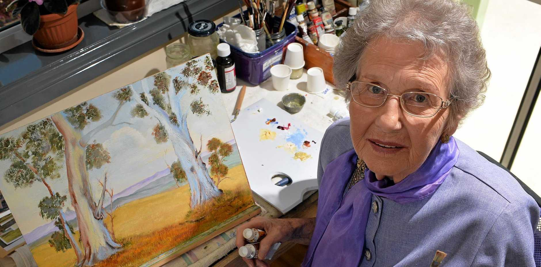 ALWAYS CREATIVE: Audrey Toft rediscovered her artistic skills later in life.