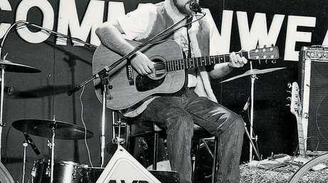 John Williamson on stage.