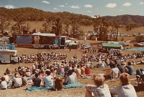 The Muster crowd in 1983.