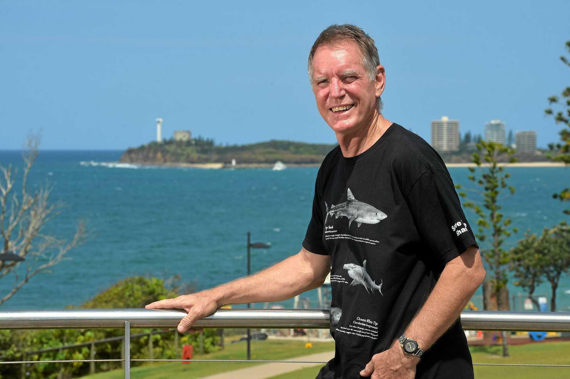 Tony Isaacson wants to establish shark dives off the Sunshine Coast. Photo: Warren Lynam / Sunshine Coast Daily