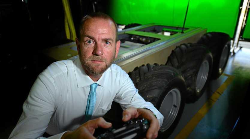 LIFE SAVER: Matt Sims of Praesidium Global with the company's top-secret invention.