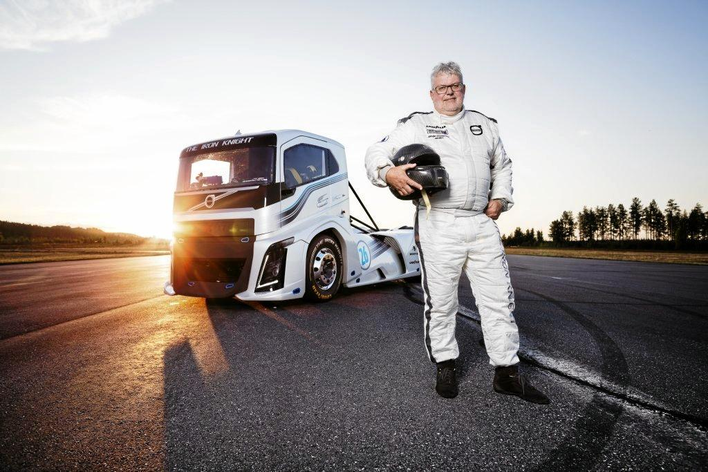 The Iron Knight driver Boije Ovebrink has landed Volvo Trucks two land speed records for trucks.