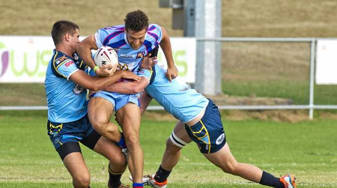 DANGER MAN: Kurtis Shayler tests out the Norths defence earlier this season.