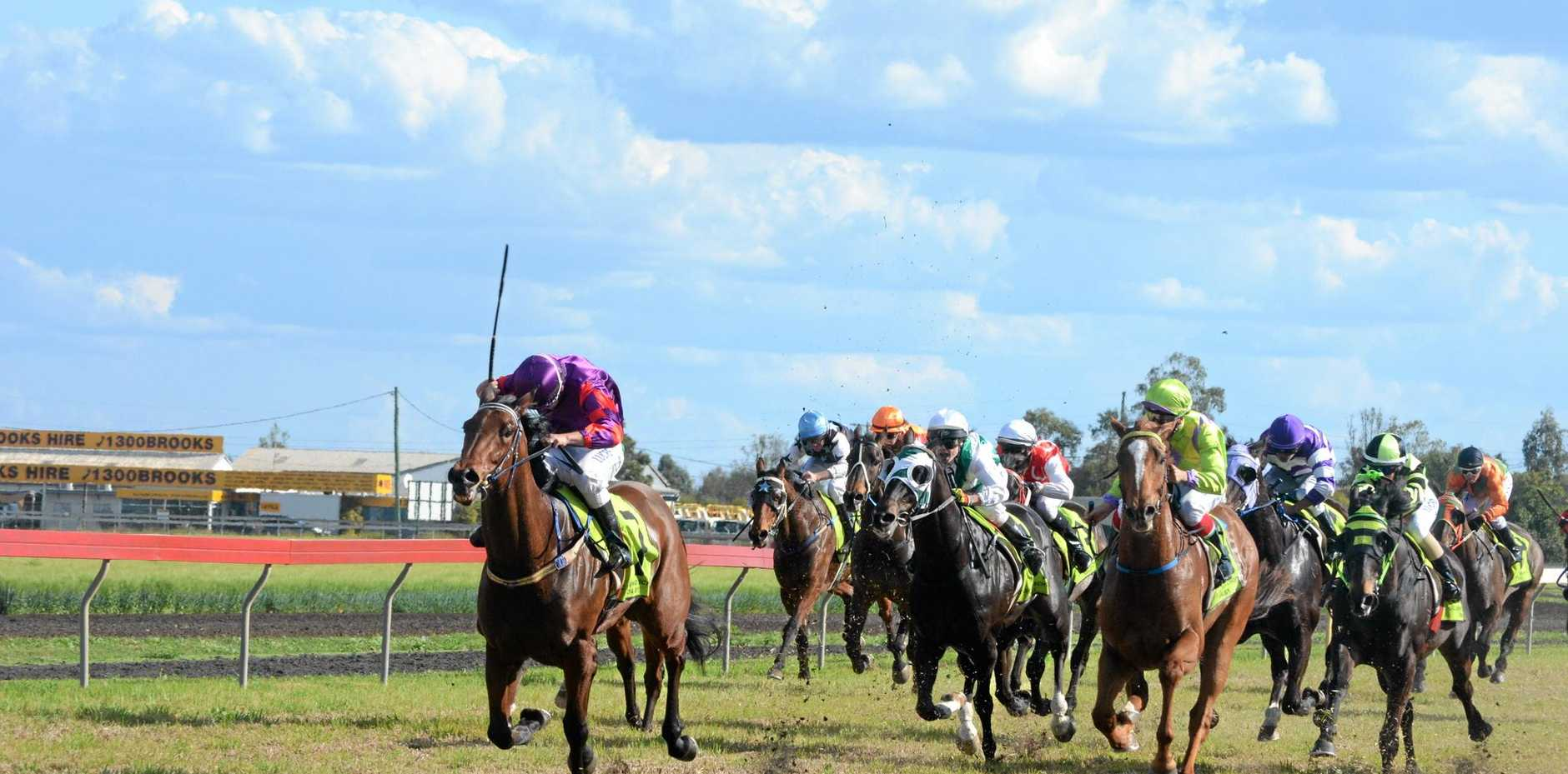Race five: Our Lady of the Southern Cross College 1400m at Saints Race Day, September 5, 2015.  Photo Will Hunter / Dalby Herald