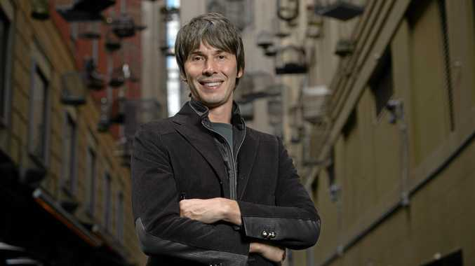 English physicist, professor Brian Cox poses for a photograph in Sydney, Thursday, Aug. 4, 2016. Cox is touring nationally for his live stage show, A Journey Into Deep Space. (AAP Image/Dan Himbrechts) NO ARCHIVING
