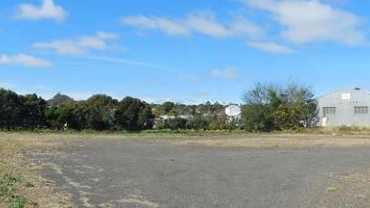 The land where the hospital will be built in Pechey St.