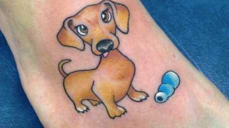 Amber Kristy dog tattoo by Natasha Jade at Top of The Range Tattoo Studio