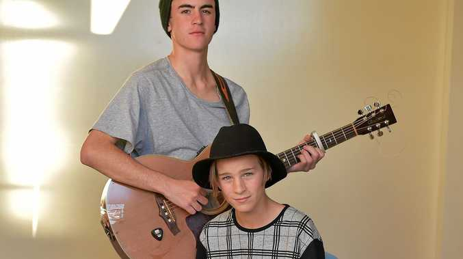 VOICE FOR KIDS: The Aitken brothers Tim (wearing beanie) and Sam (wearing hat) from the band Hoo8hoo will be performing at the KidsFORKids concert on September 10.