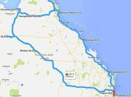 The Black Dog Ride will travel 5500km around Queensland.