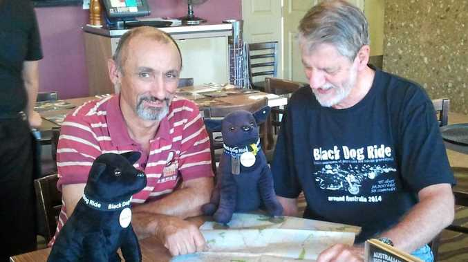 Sarina man Paul Vella and Mackay man Charles Linsley are on the road with the Black Dog Ride.