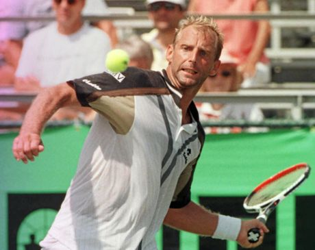 SELLING UP: Tom Offermann said he's currently marketing former Austrian tennis star Thomas Muster's Noosa home. Muster is pictured here returning a shot to Nicolas Lapentti in 1998.