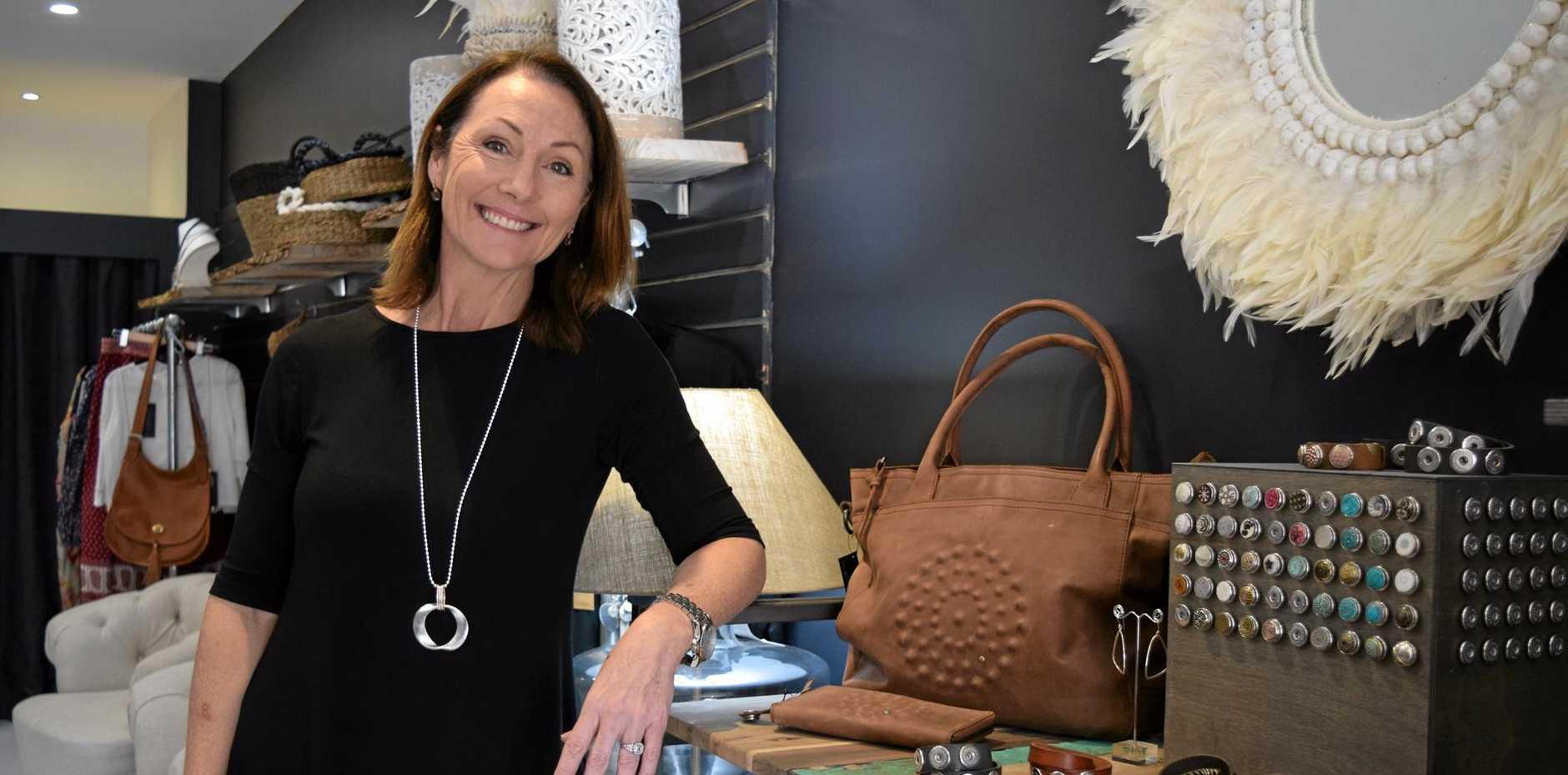 SWEET SUCCESS: Desley Walters has opened Sweet Charlotte Studio on Bulcock St, Caloundra.