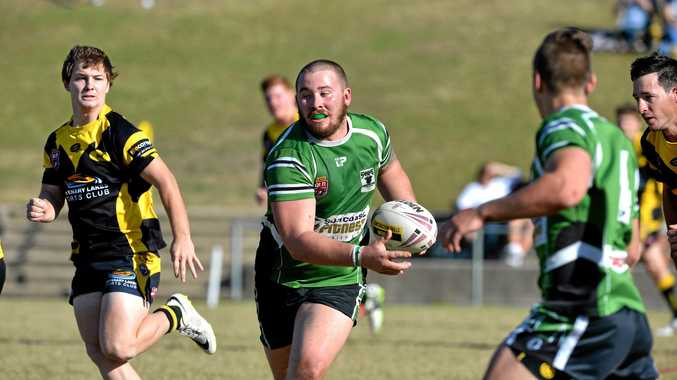 PLAYER OF THE YEAR: Nambour's Tim Ross in action. The burly prop was adjudged the best player in the local rugby league competition.