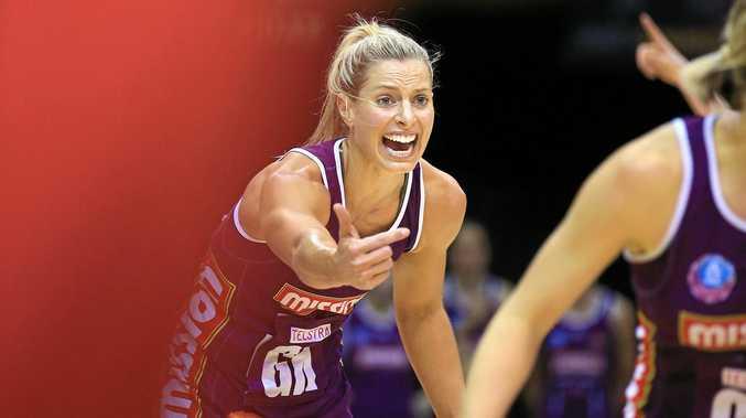 Former Allora junior Laura Geitz in action for the Queensland Firebirds.