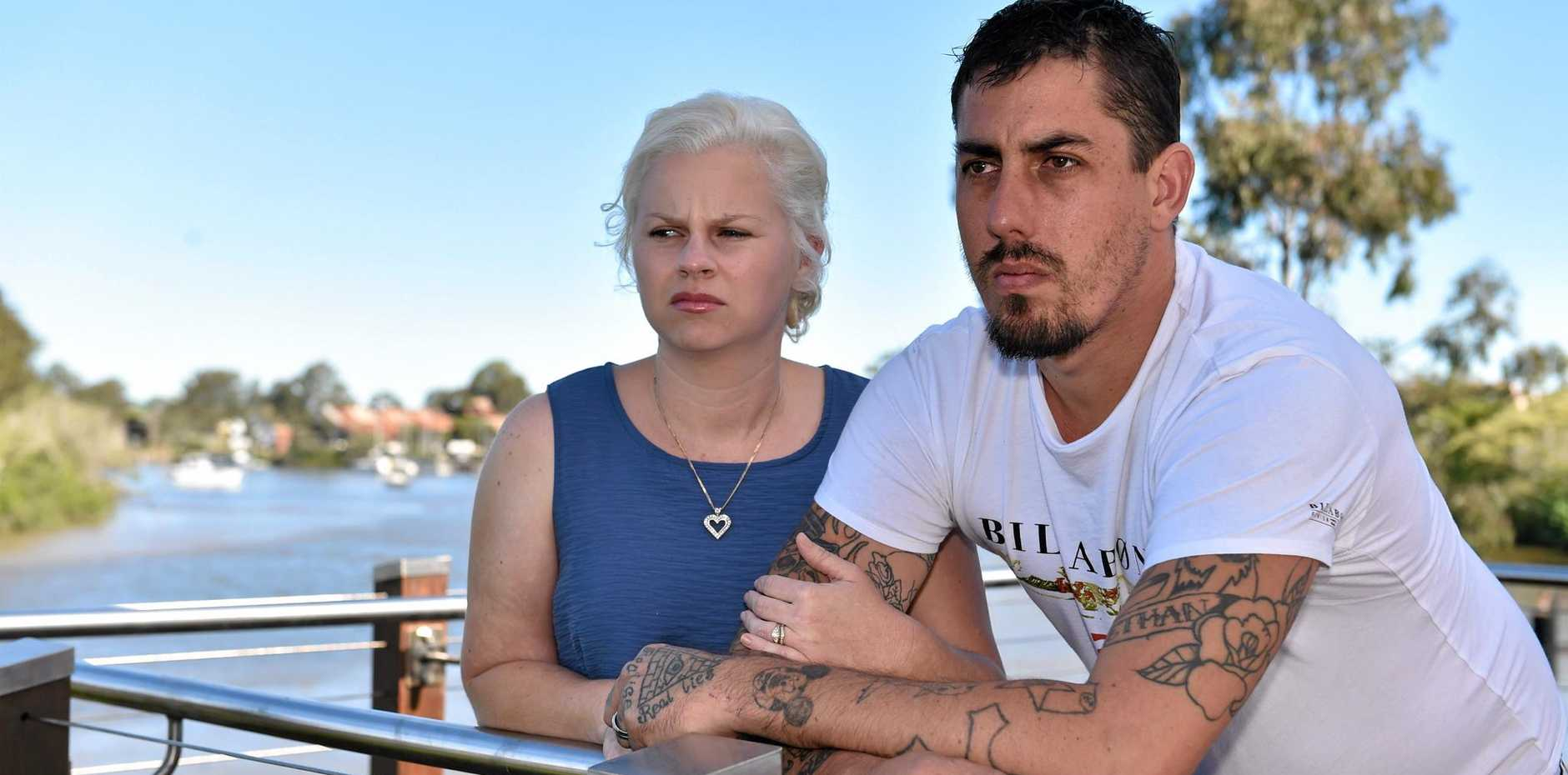 UNHAPPY: Maryborough couple Emma and Steven Dilliway who star on Australia's Cheapest Wedding and are not happy with the outcome.