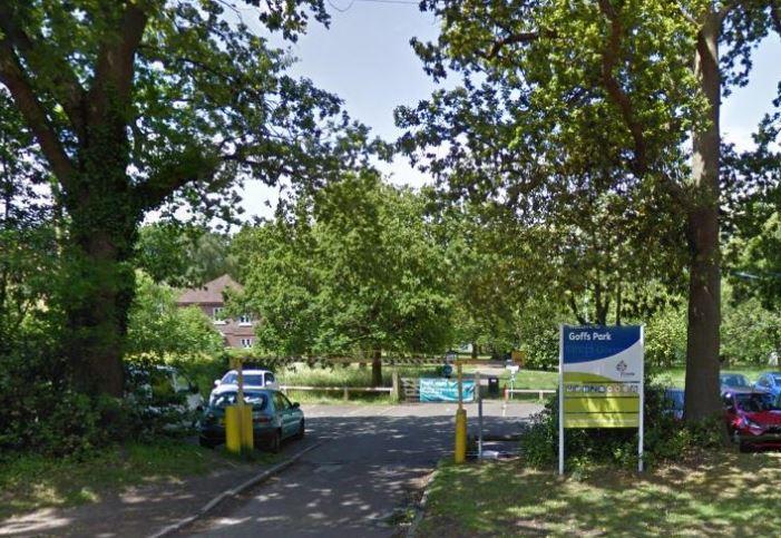 Goffs Park in Crawley, in West Sussex, UK.