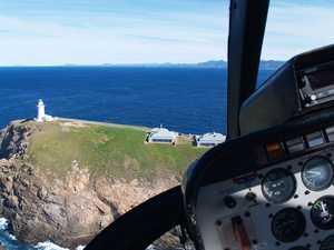 Helicopter lighthouse tours around South Solitary Island