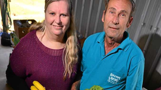 Dawn and Gordon Lindsay of Nan and Pop's Fruit Shop.  Photo: John McCutcheon / Sunshine Coast Daily