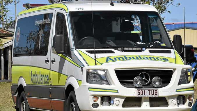 Emergency services are attending to a 21-year-old man who has fallen down a cliff at Sunshine Beach.