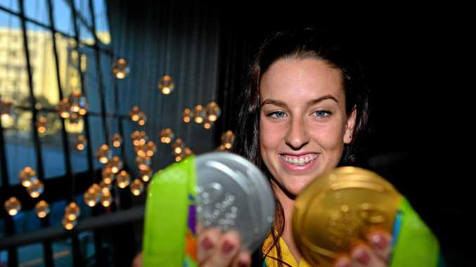 WELCOME HOME: Brittany Elmslie was one of the atheltes welcomed home at Maroochy RSL on Friday evening.