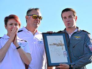 Aviation world record holder left speechless by surprise gift