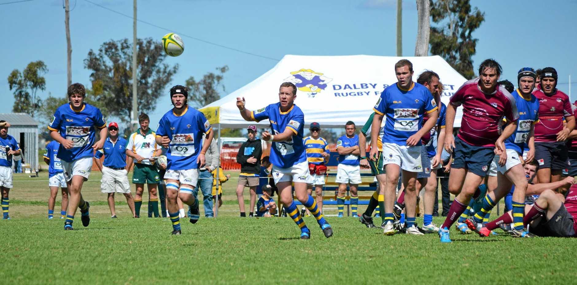 The Dalby Wheatmen B-grade v the Toowoomba Bears. Photo Alasdair Young / Dalby Herald