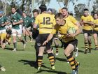 Goondiwindi winger Sam Bursle on the attack against Condamine in Downs Rugby Risdon Cup elimination final rugby union at John Ritter Oval, Saturday, August 27, 2016.
