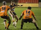 Jarrod Lee chips for Highfields against Souths in Hutchinson Builders TRL Premiership A grade rugby league elimination final at Clive Berghofer Stadium, Saturday, August 27, 2016.