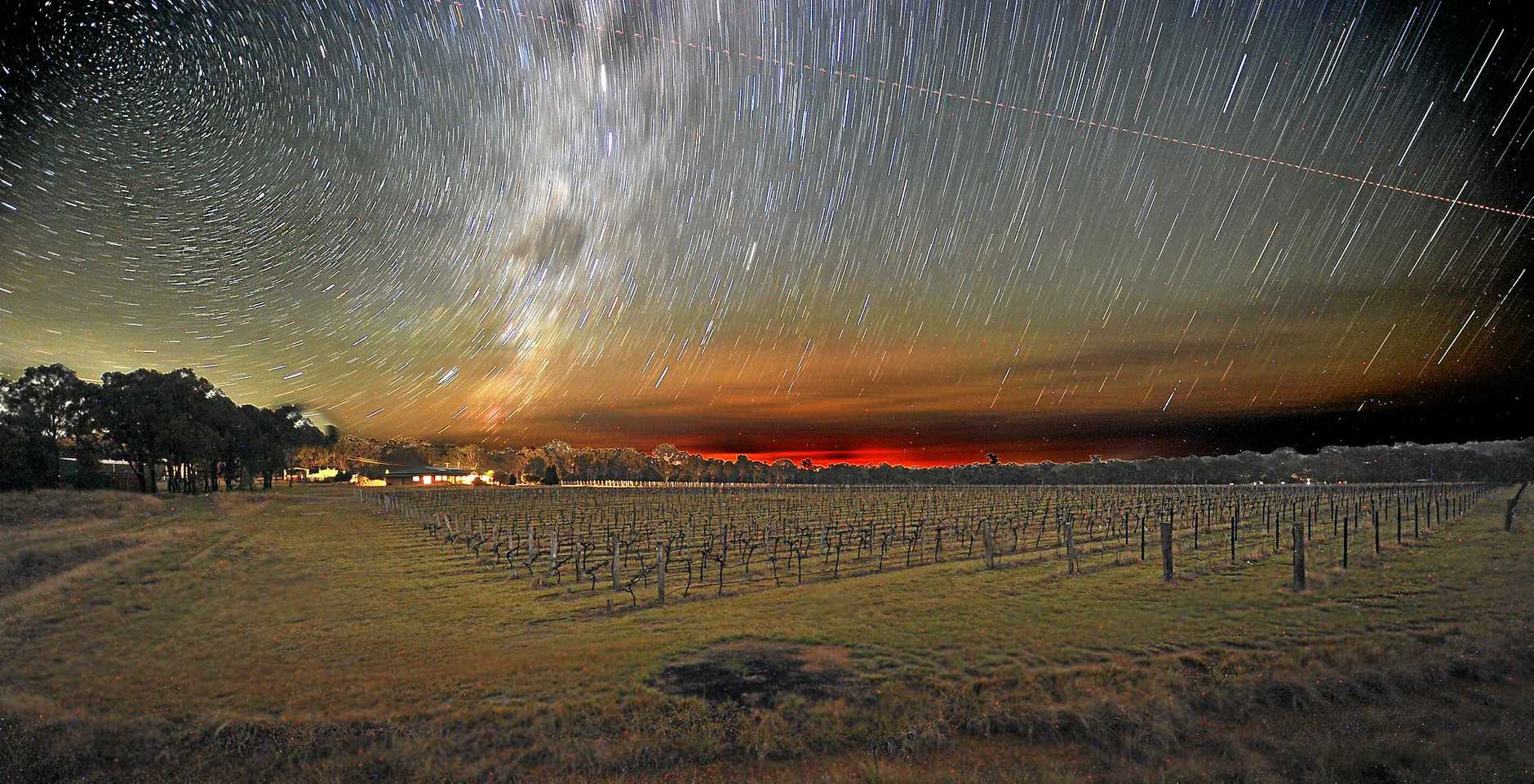 STARRY NIGHTS: James Barclay wants photos like this one over Kingsley Grove to help secure a dark sky certification.