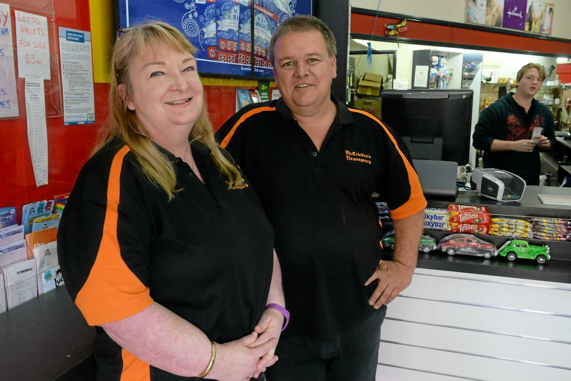 FACES OF BUNDY: Michael and Lyn Bowles from McCrackens Newsagency.
