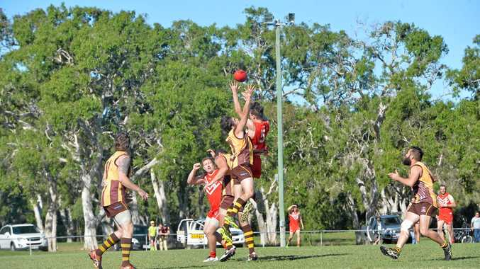EXCITING: Mackay City Hawks and the Eastern Swans fought to the finish for a grand final spot, which the Hawks secured by one point.
