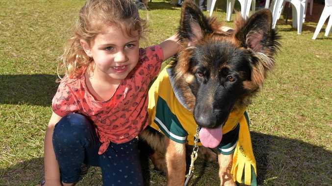 Sunshine Coast Animal Refuge and 4Paws Walk for Awareness.Lily Niehus with Simba
