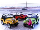 SELLING A LIFESTYLE: Jeep's had some memorable models over the years, and their go-anywhere 4x4 nature has always had appeal to those in search of off-road freedom. And to those wearing pink mini-dresses in the snow.