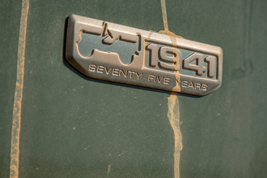 Badging used as part of celebrations for Jeep's 75th anniversary. Photo: Thomas Wielecki