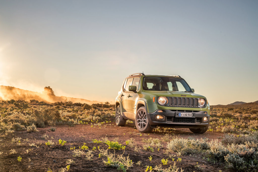 Jeep Renegae 75th Anniversary Edition launched as part of celebrations for Jeep's 75th anniversary. Photo: Thomas Wielecki